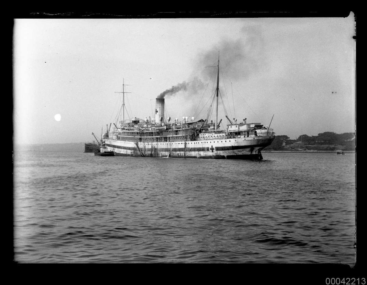 HMAHS KANOWNA after conversion to a hospital ship, March 1919. 00042213 ANMM Collection