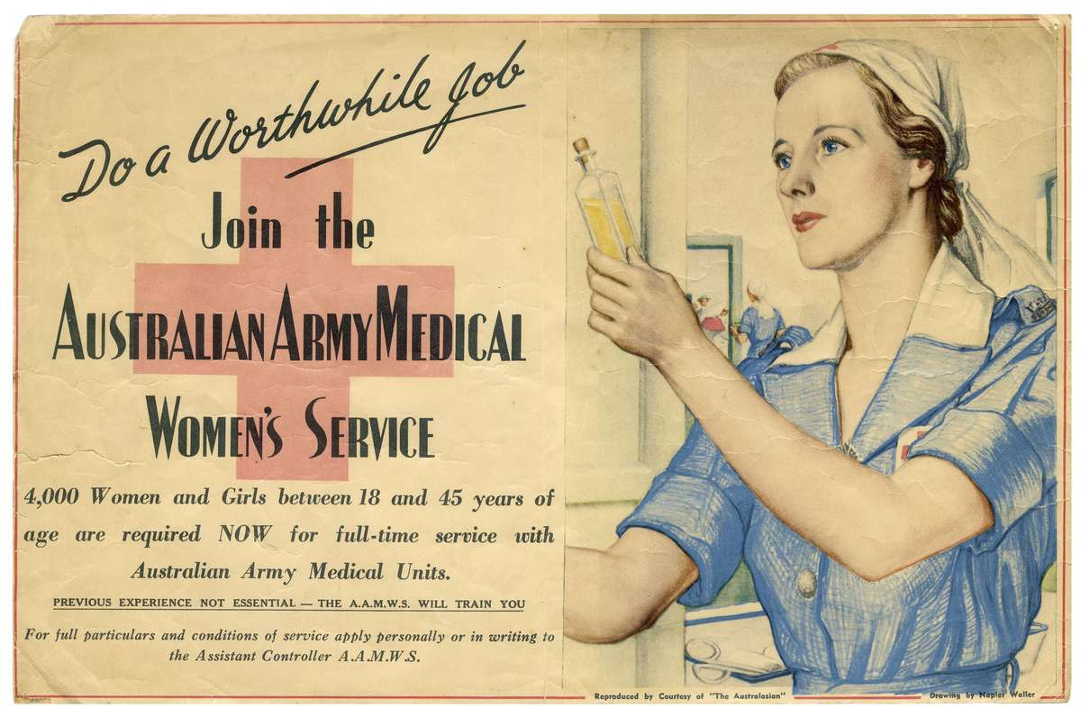 WW2 recruitment poster featuring Jean Enwall (née Kennett), ANMM Collection ANMS0148[001]