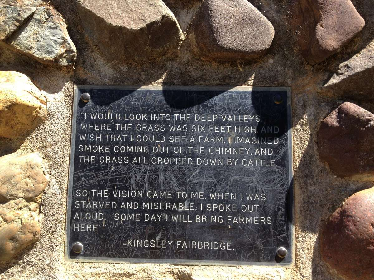 Memorial plaque at the Kingsley Fairbridge Memorial Reserve, Molong, NSW. ANMM photo 2013