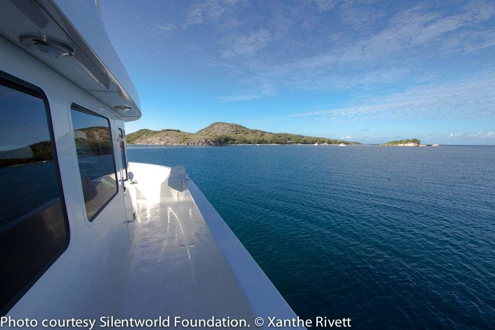 View from boat of Lizard Island