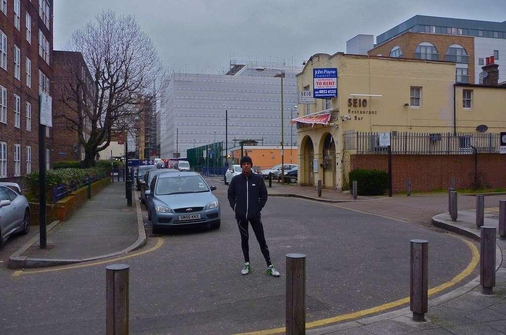 Photo of David Payne standing in street