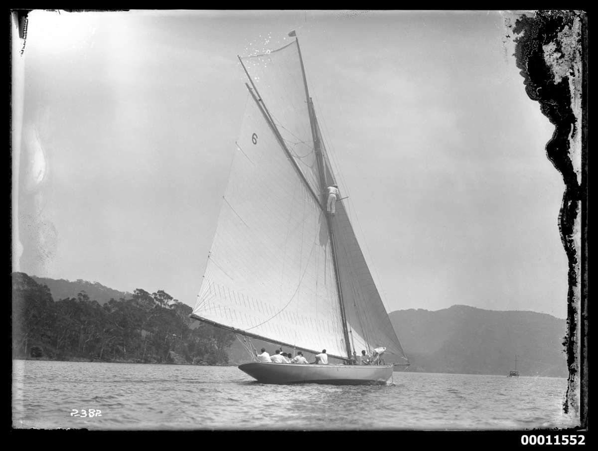 Rawhiti at Pittwater c 1920 Photographer: William J Hall ANMM Collection