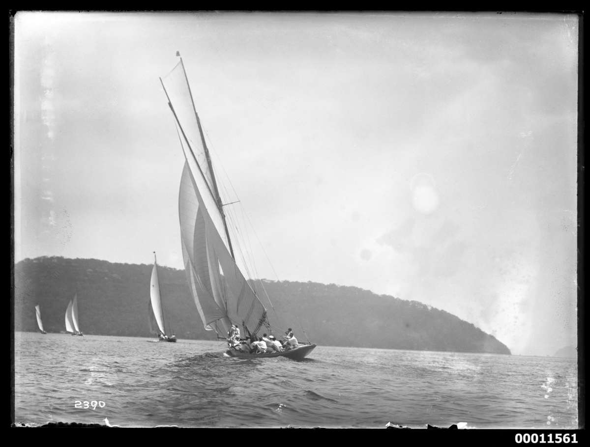 Rawhiti under sail, probably at the Pittwater Regatta c 1925 Photographer: William J Hall ANMM Collection