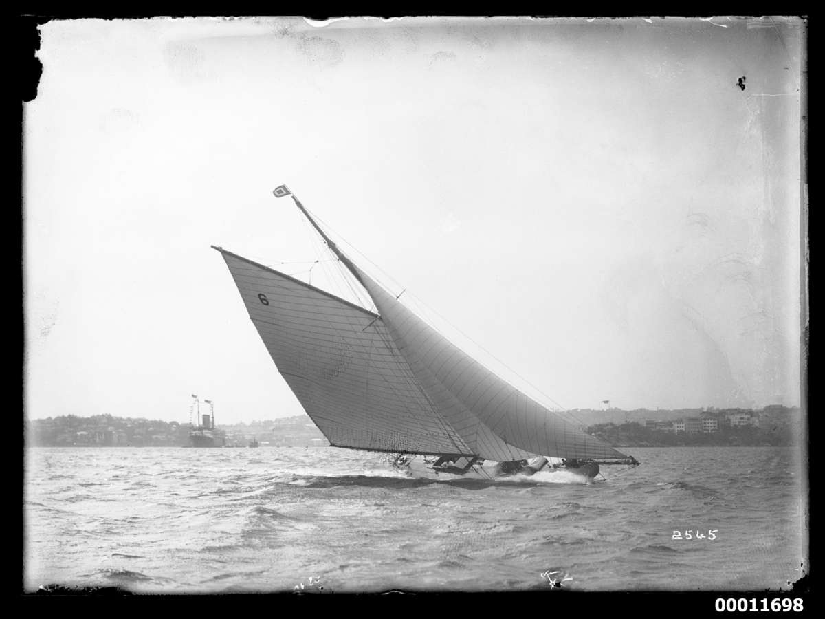 Rawhiti under sail c 1925 Photographer: William J Hall ANMM Collection