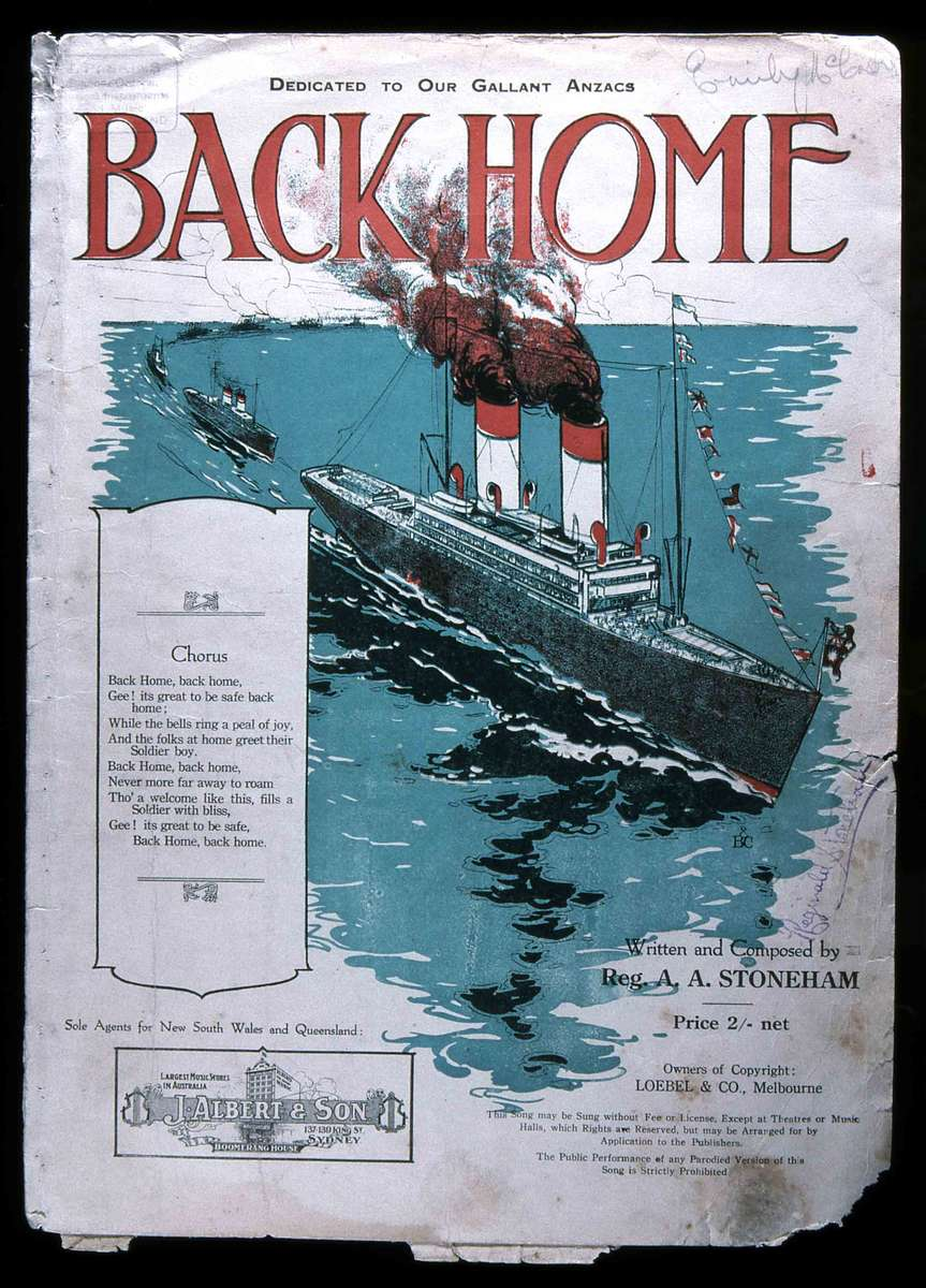 Back Home, published by J Albert & Son c 1918 ANMM Collection