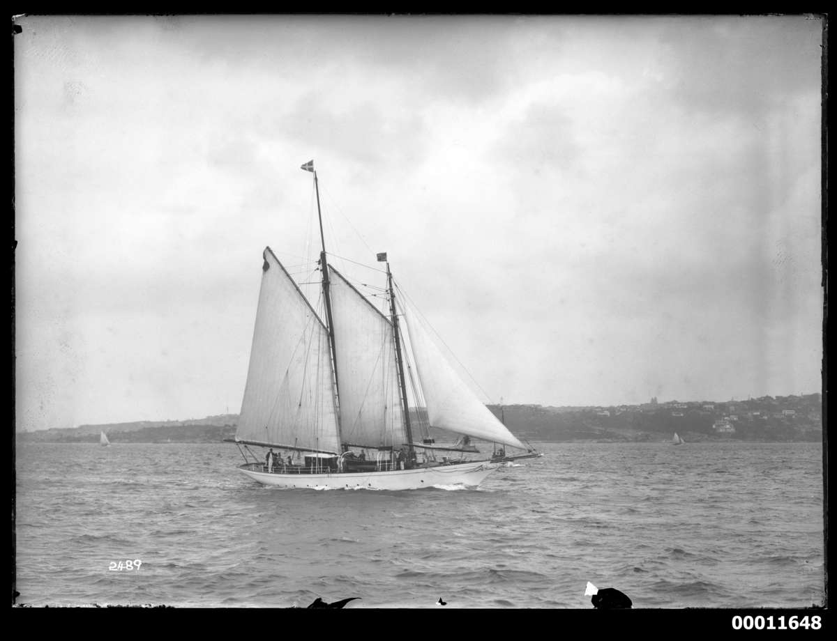 Boomerang sailing on Sydney Harbour, c 1930. Photographer: William J Hall ANMM Collection