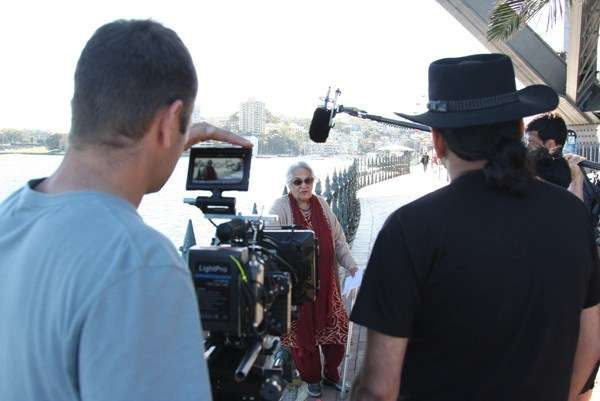 80 year old Indian Aussie being filmed for the film.