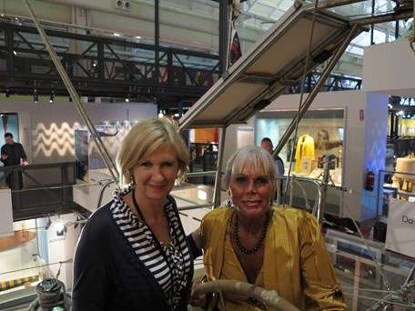 Pioneering woman adventurers – Linda McGill, the first Australian across the Channel, with me on board Blackmores First Lady, the pioneering circumnavigator Kay Cottee's yacht which is fitted out down below and open for tours in Voyagers.