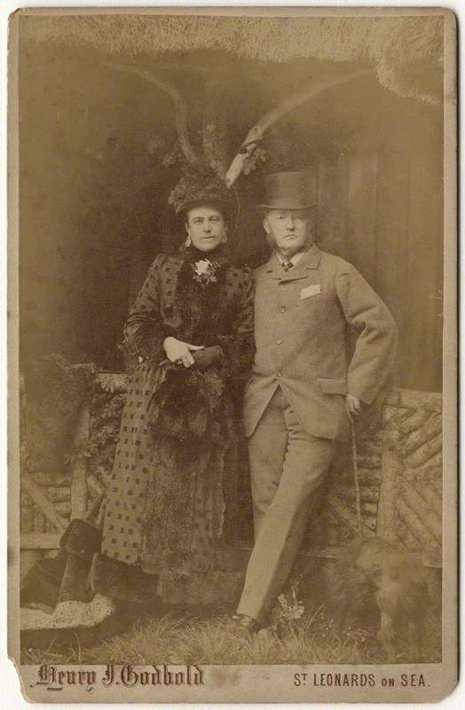 Lord and Lady Brassey, 1880s. Photographer Henry J. Cobbold From the collection of the National Portrait Gallery (UK)