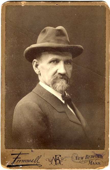 Portrait of Joshua Slocum, 1898. Image courtesy New Bedford Whaling Museum, item 1989.1.10A