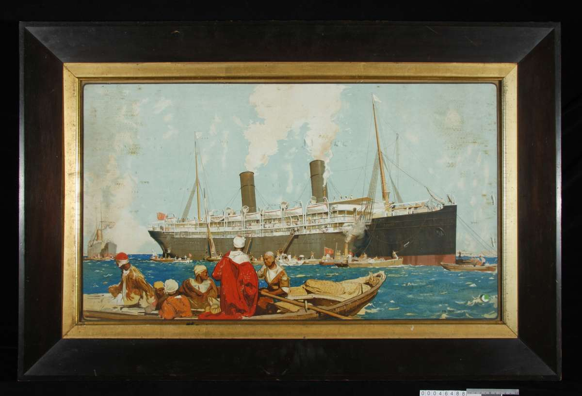 Ophir in the Suez Canal by Frank Brangwyn, 1900