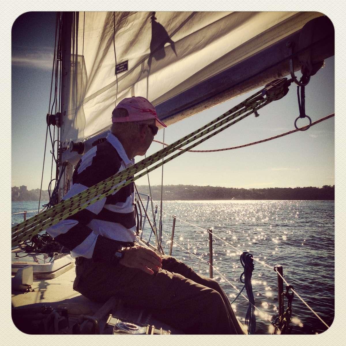 Alex Whitworth on board Berrimilla II, June 2013 Photographer: Nicole Cama, ANMM