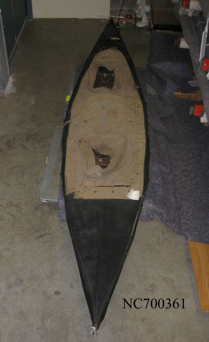 Folboat Mark III No. 117 made by Hedleys Pty Ltd in 1943.  Same type used during Operation Jaywick. ANMM Collection NC700361