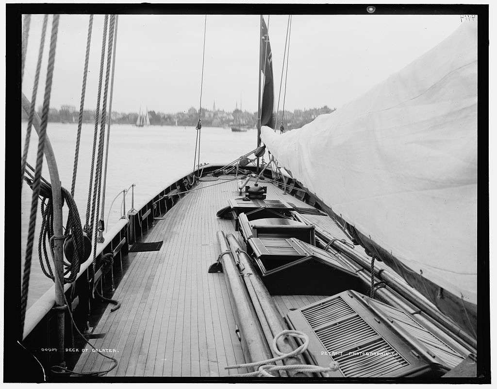 Deck of Galatea, 1880-1899  Library of Congress, Prints & Photographs Division, Detroit Publishing Company Collection, [reproduction number, LC-D4-4904]
