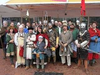 Viking age reenactors at the museum in 2006