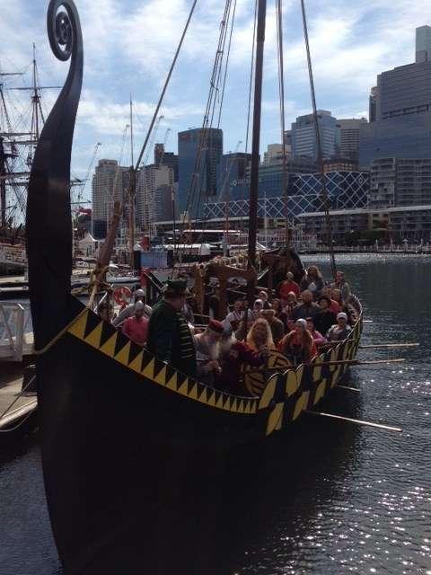 Forty odd Vikings aboard the Jorgen Jorgenson