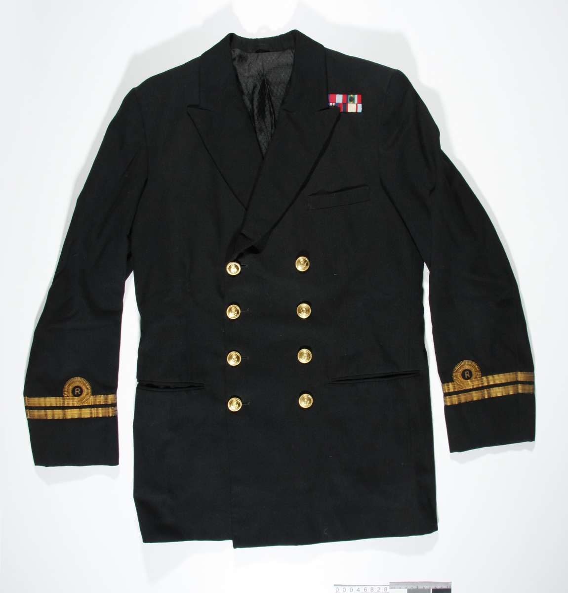 Black jacket from naval uniform belonging to Lt H E Carse ANMM Collection Gift from J Millane