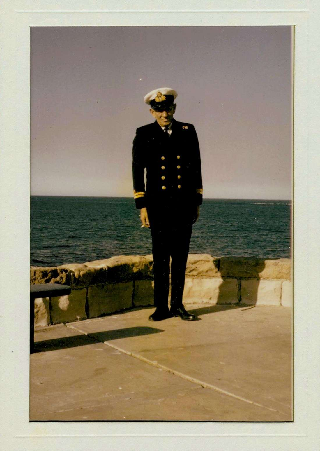 Ted Carse in naval uniform, c 1965. ANMM Collection Gift from J Millane