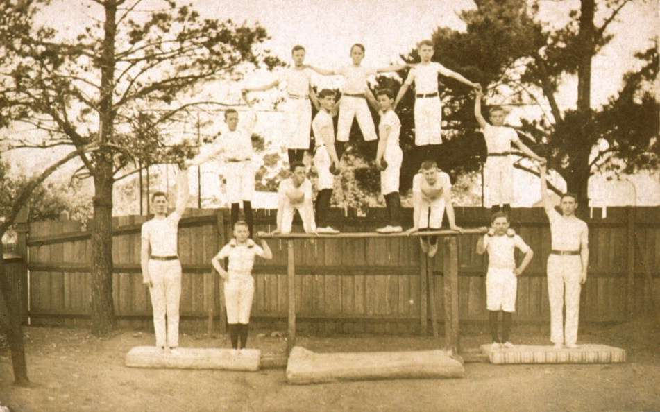 Photographic postcard depicting HMAS TINGIRA Cadets, Ascot Vale. c 1912 ANMM Collection 00001594