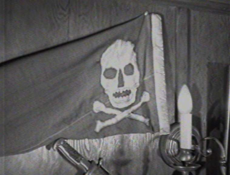 Pirate flag on Seeteufel. Screen capture reproduced courtesy of National Film and Sound Archive of Australia