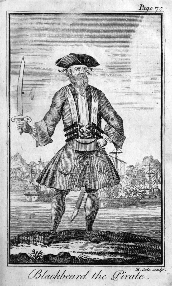 Blackbeard, from the second edition of Charles Johnson
