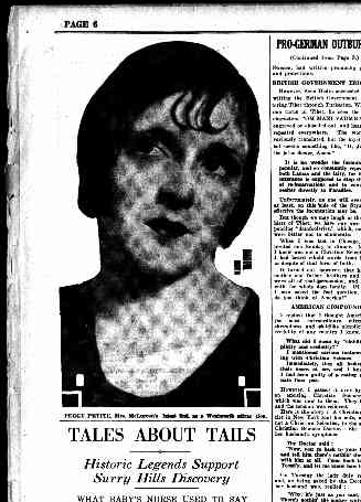 Peggy Petite, Sunday Times 26 June 1927