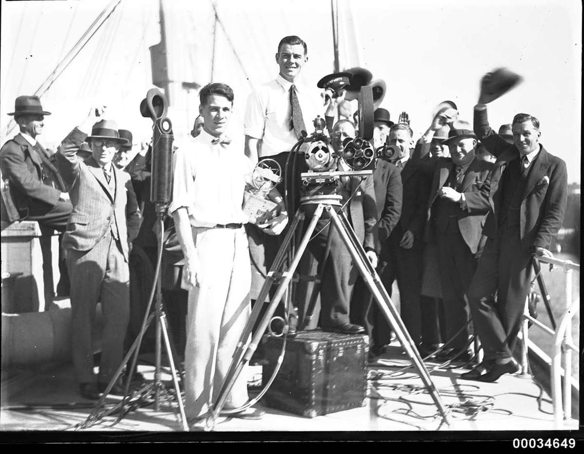 Roy Vaughan, American cameraman, 8 August 1929 Samuel J Hood Studio ANMM Collection
