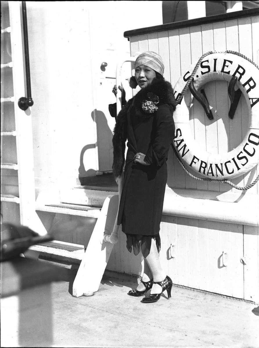 Kono San on SS Sierra, 8 August 1929 Samuel J Hood Studio ANMM Collection