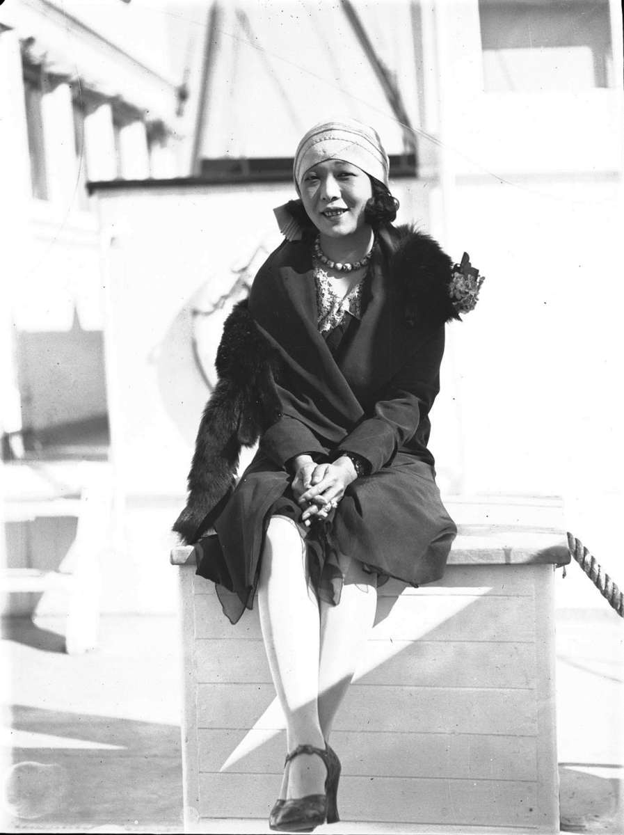 Kono San at a Movietone event on board SS Sierra, 8 August 1929 Samuel J Hood Studio ANMM Collection