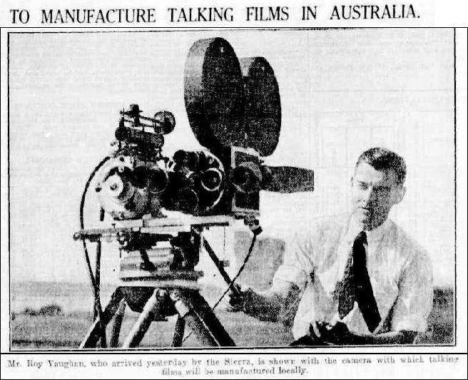 Roy Vaughan, American cameraman, Sydney Morning Herald via Trove
