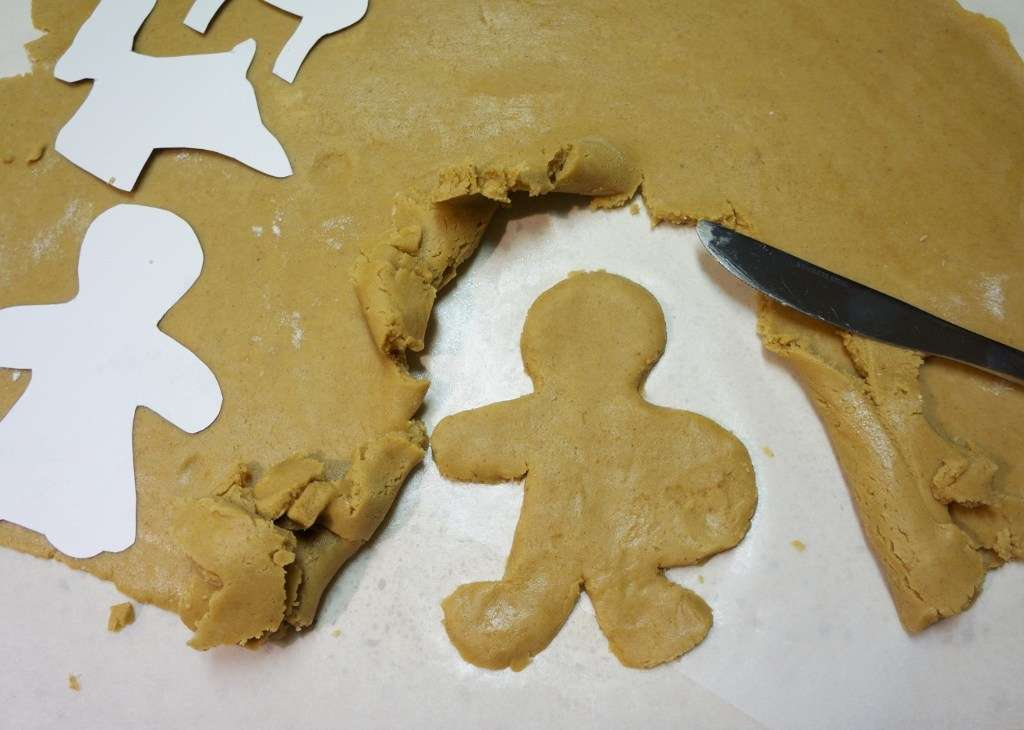 cut out gingerbread dough