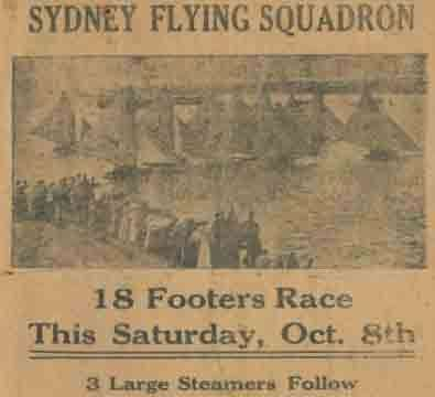 Front page of Sydney Flying Squadron program