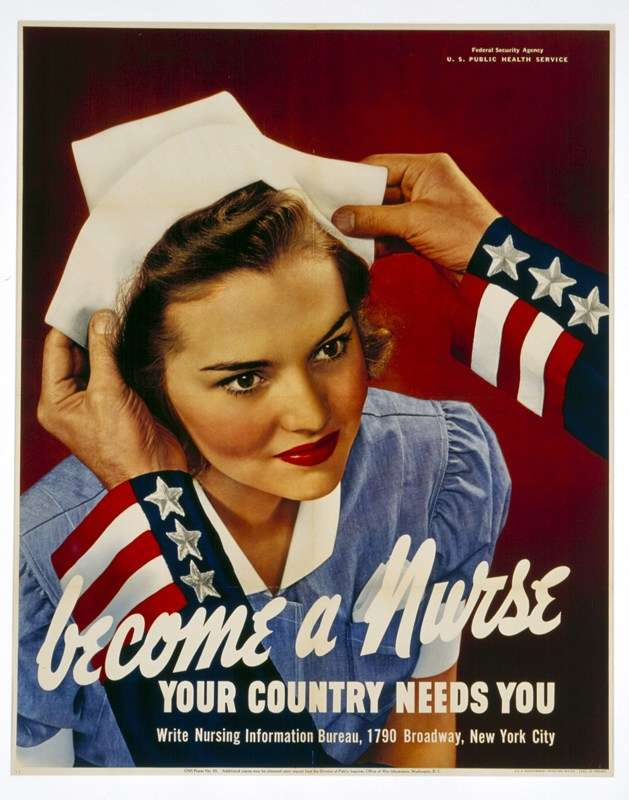 Become a Nurse your country needs you. Weslee Wootten D'Audney as a young woman. This poster is part of the museum