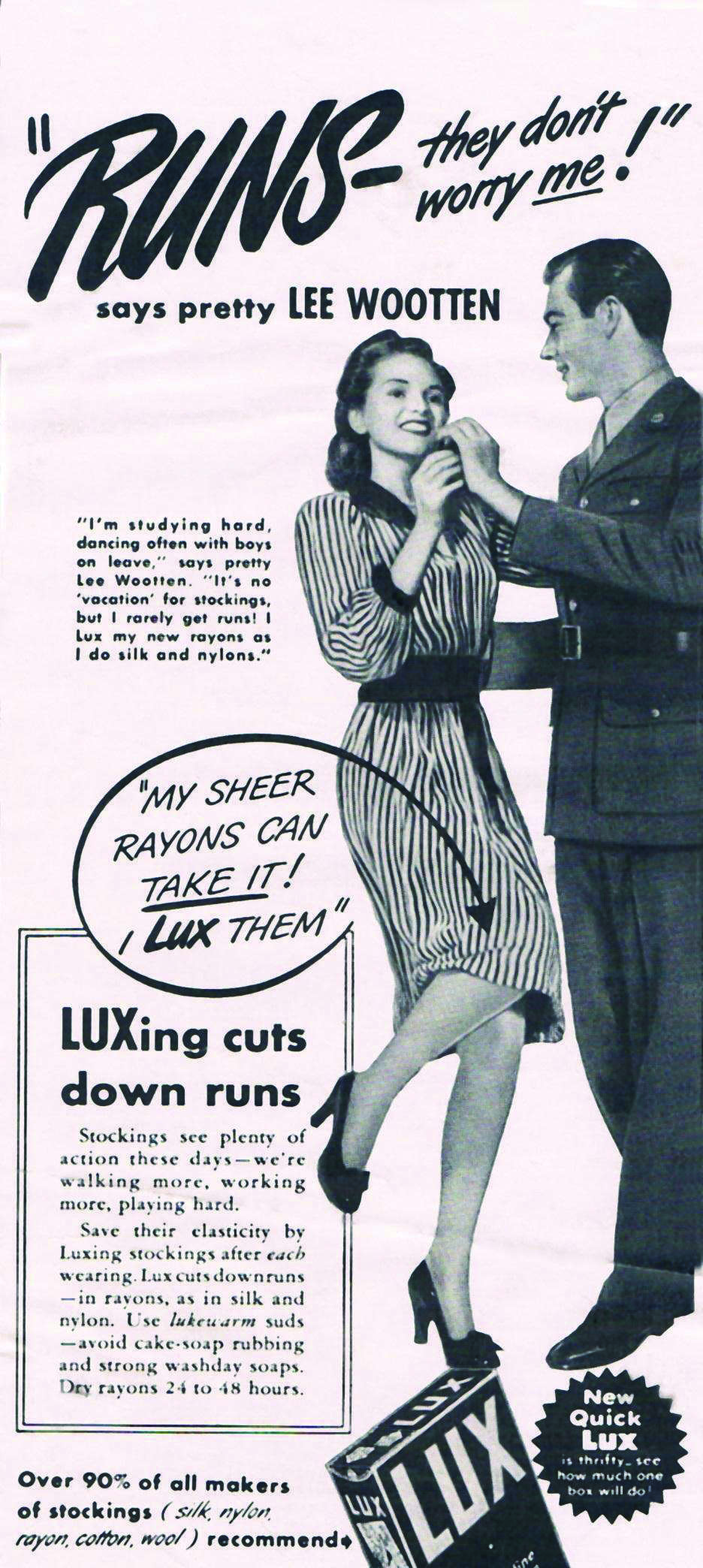 A magazine ad from the early 1940s