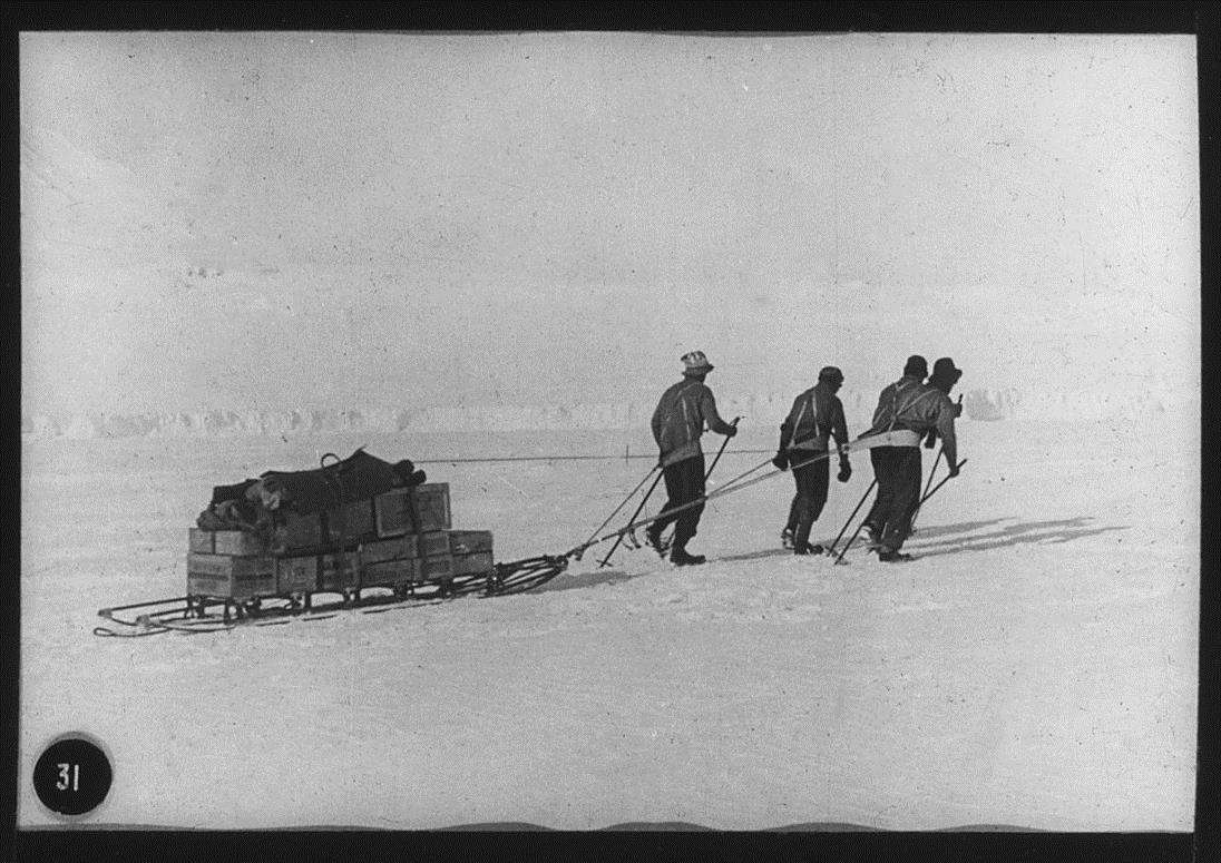 Sledging Party Antarctic British Expedition 1910-13