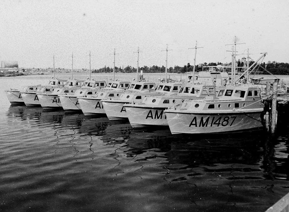 Air-Sea Rescue boats built by the Halvorsen Company during WWII. ANMM Collection Gift from Harvey Halvorsen and Judith Lynn Vigo
