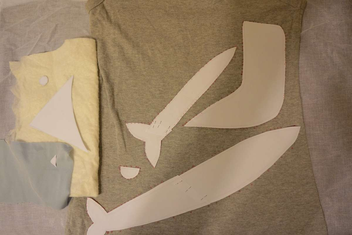 pattern pieces to cut out