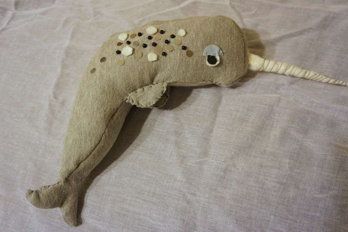 narwhal softie  finished