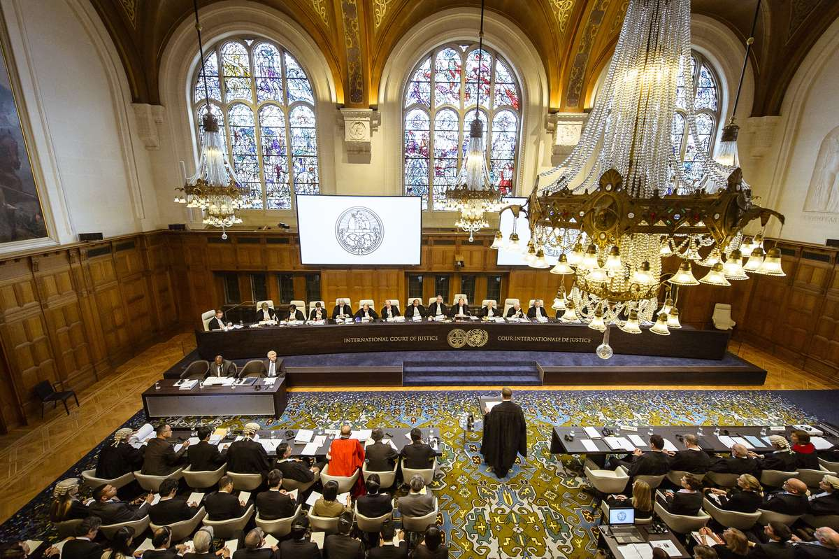 Courtroom at the opening of the International Court of Justice hearings of the case concerning Whaling in the Antarctic (Australia v. Japan) 26 June 2013 UN Photo ICJ/CIJ