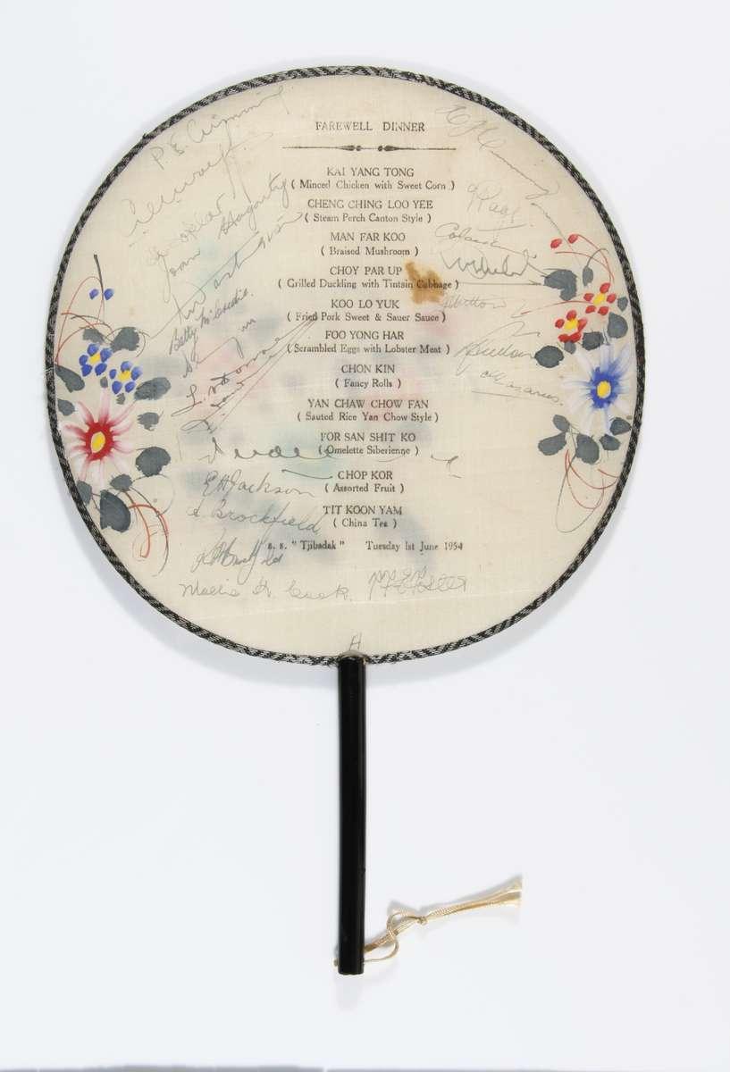 Autographed keepsake, TJIBADAK, 1954 ANMM Collection