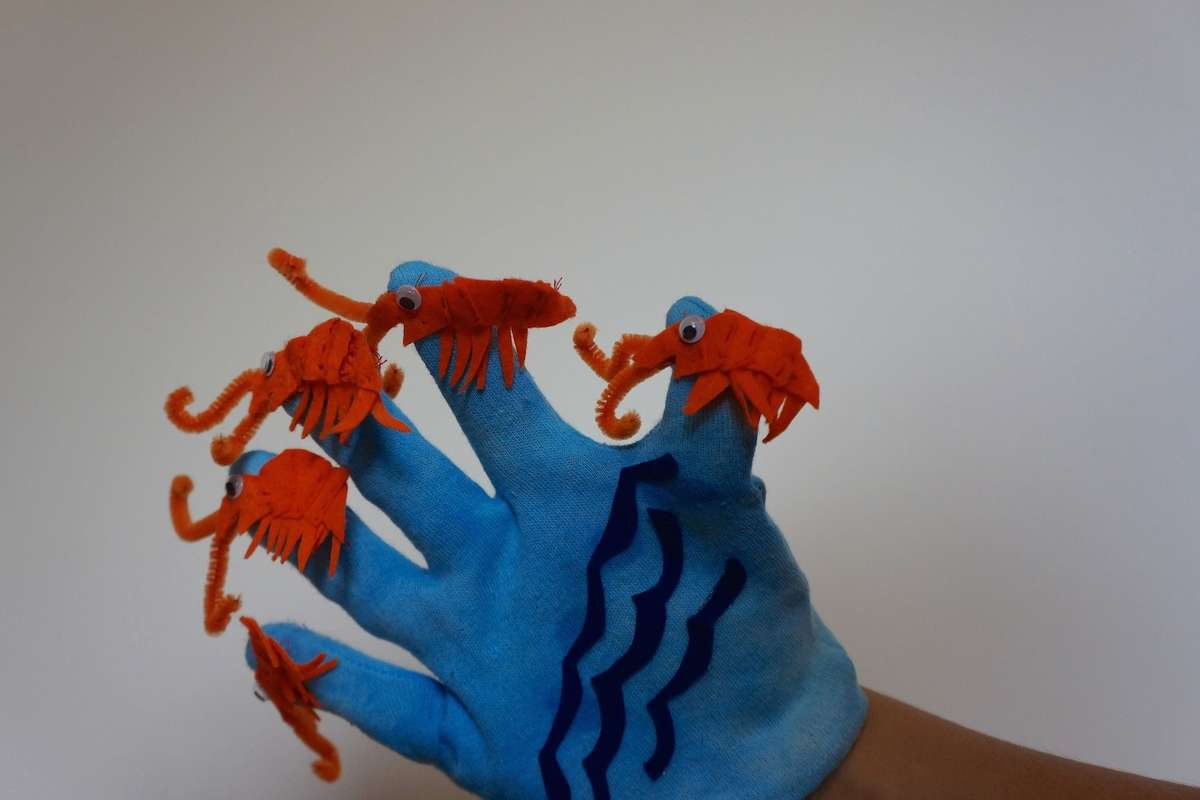 finished krill glove