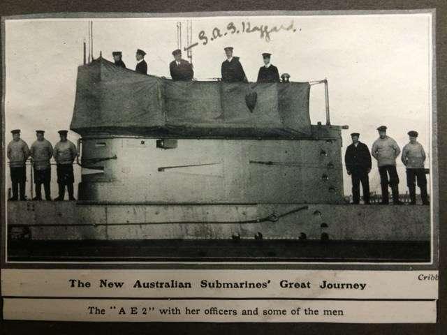 AE2 crew on deck