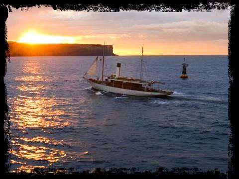 SY ENA leaving port, image taken from the Manly Ferry by Captain Ian Haig Gilchrist