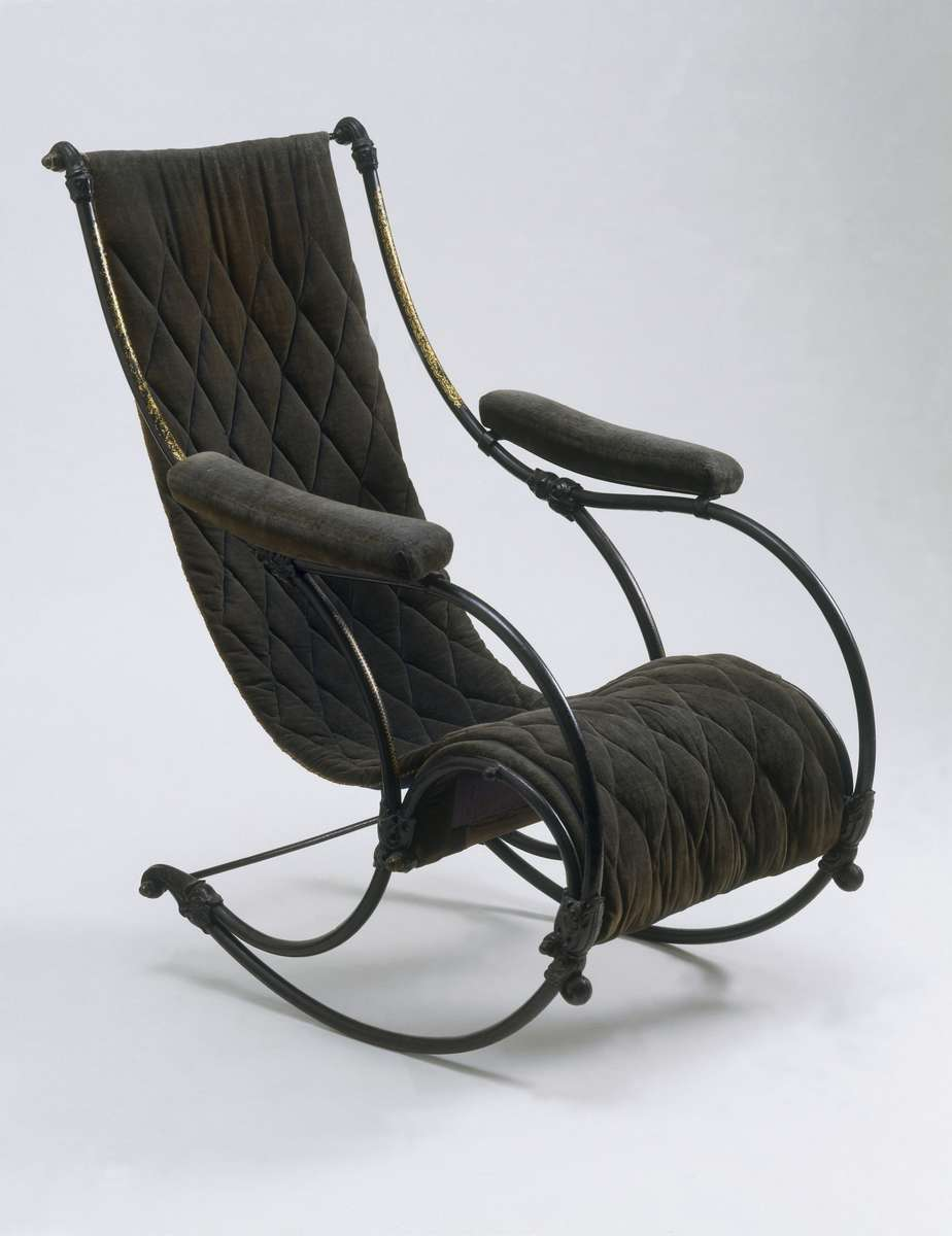 R.W.Winfields rocking chair. Similiar in style to their award winning style of 1851 Image courtesy of the Victoria and Albert Museum, London