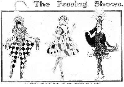 Postcard for the Chelsea Arts Club Dazzle Ball