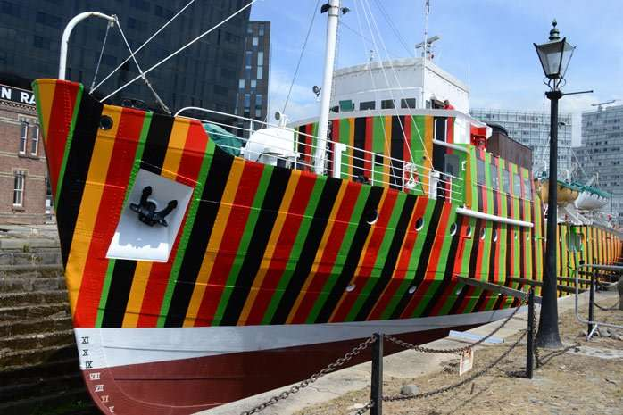 In 2014 artist Carlos Cruz-Diez worked with the idea of dazzle using the Merseyside Maritime Museum