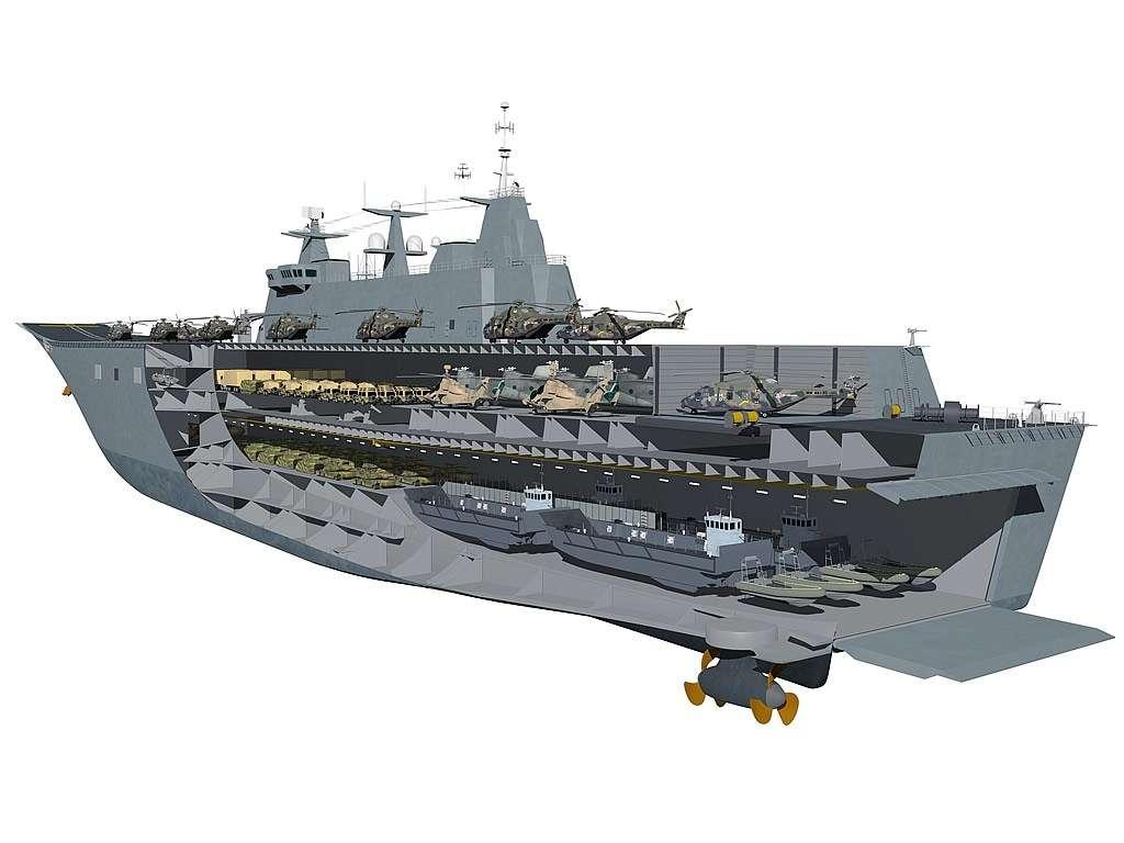The Canberra Class Amphibious Assault Ship concept.