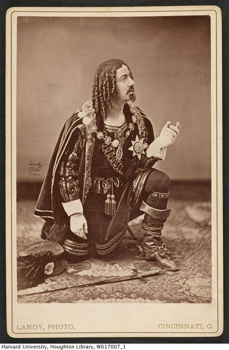 Gustavas V. Brooke in Shakespearian mode. HarvardTheatre Collection.
