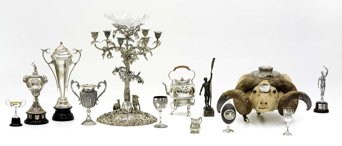 A selection of trophies from the ANMM collection.