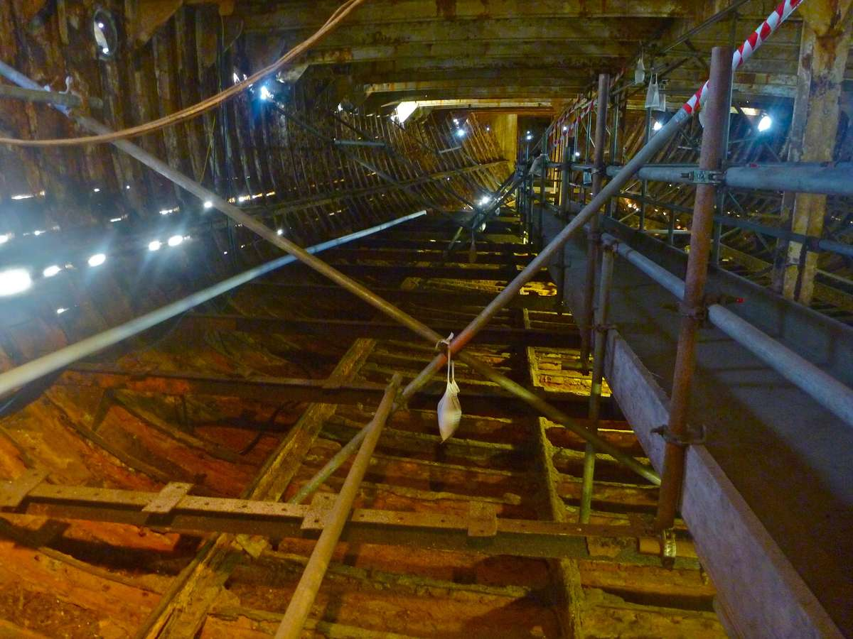 Internal view of the clipper ship City of Adelaide.